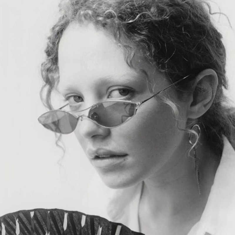 Панк Овальные Солнцезащитные очки для женщин Роскошные Oculos Feminino оттенки Винтаж металлическая оправа солнцезащитные очки для мужчин и женщин Gafas de sol mujer