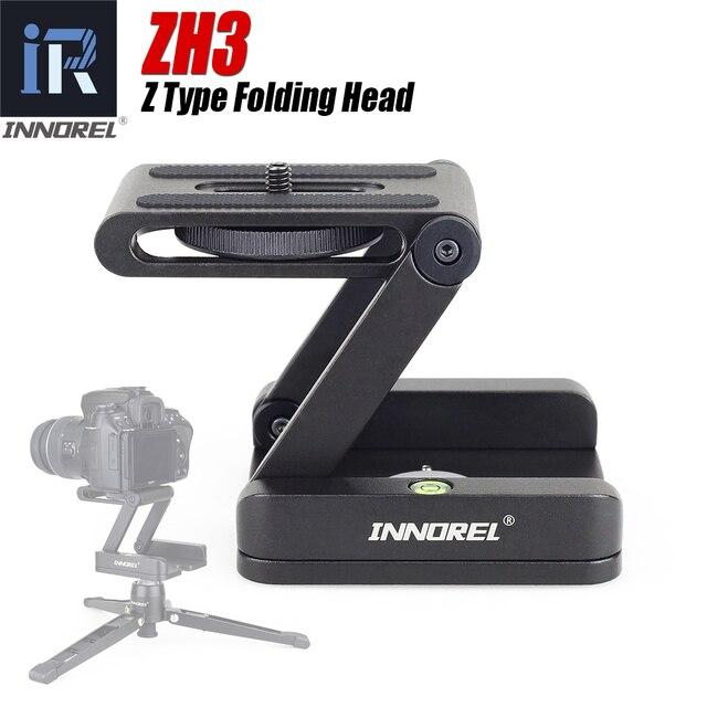 Innorel ZH3 Hợp Kim Nhôm Chân Máy Đầu Giải Pháp Z Pan Chân Máy Đầu Flex Gấp Gọn Kiểu Z Nghiêng Đầu Dành Cho Máy Ảnh Canon Nikon sony DSLR Camera