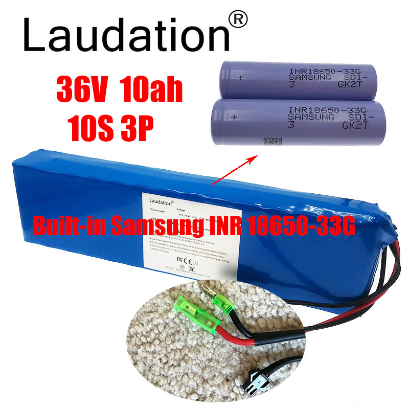 laudation 36V 10ah electric bicycle battery pack 36V <font><b>18650</b></font> battery pack 500W High Power and Capacity Motorcycle Scooter with BMS image