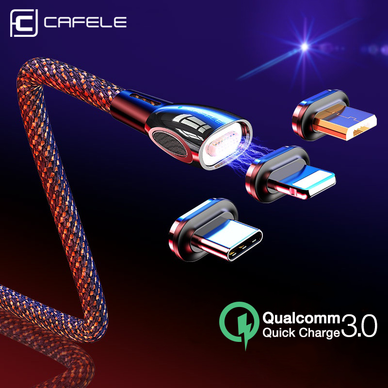 CAFELE QC3.0 Magnetic USB Cable & Data Sync Fast Charger Type C Micro USB Cable For iPhone 11 pro max Huawei Samsung Xiaomi|Mobile Phone Cables|   - AliExpress