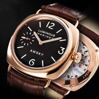 Aço inoxidável masculino relógios mecânicos de cristal safira 6497movt t oficial autêntico aviação enrolamento manual relógio mecânico|Relógios mecânicos| |  -