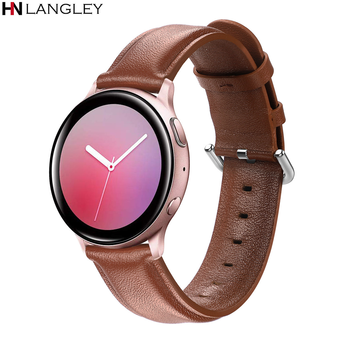 Original Genuine Leather Watchband For Samsung Galaxy Watch 42mm Active /Active 2 40mm 44mm Quick Release Band 20mm Band Gear S2