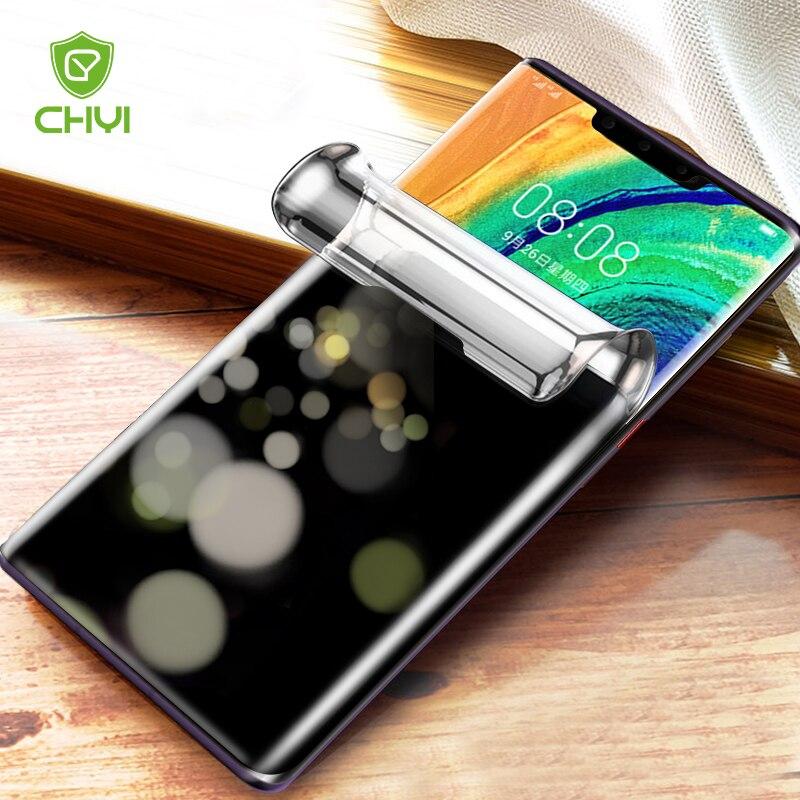 3D антишпионская изогнутая пленка для Huawei Mate 30 Pro P30 P40 Mate 40, защита для экрана с открытым экраном, полная Гидрогелевая пленка, не стекло