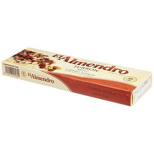 Caramel Turron With Nuts And Raisins El Almendro 75g