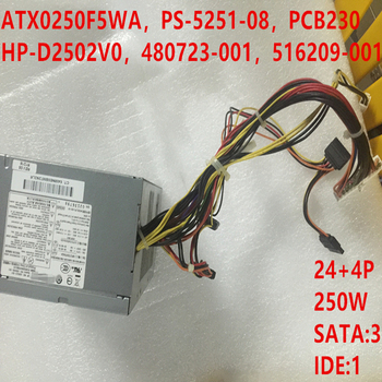 New PSU For HP DX2718 DX2310 DX2318 DX2710 250W Power Supply ATX0250F5WA PS-5251-08 PCB230 HP-D2502V0 480723-001 516209-001