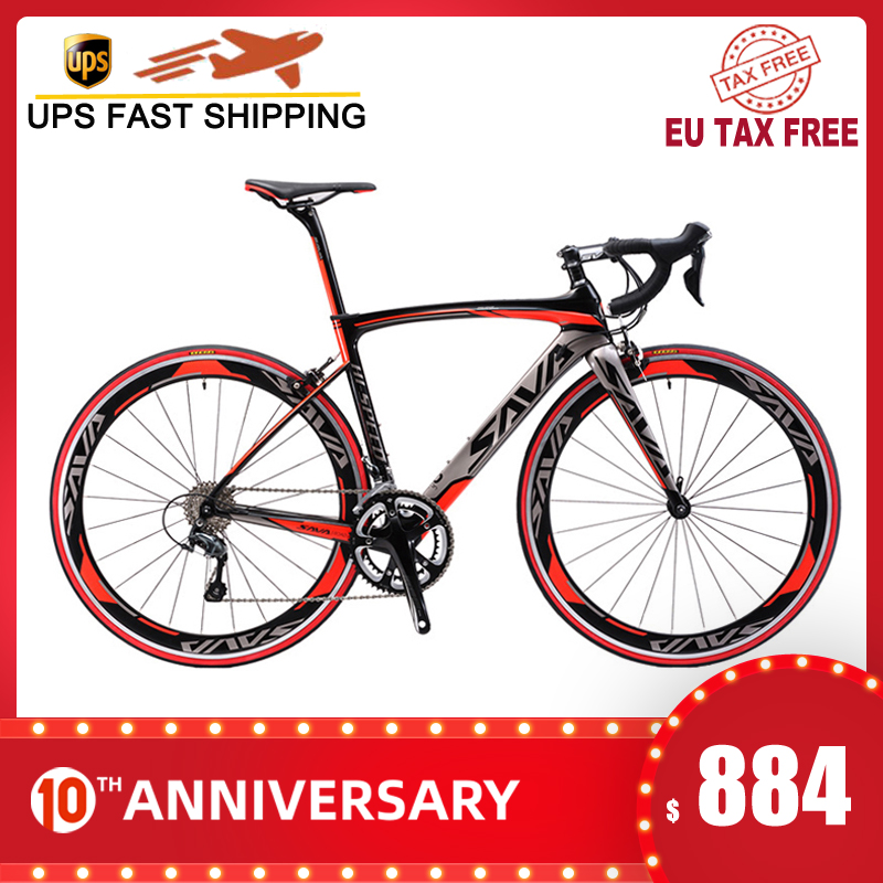 SAVA Fork Bicycle Bicicleta Road-Bike Carbon-Frame 700C SHIMANO with SORA Carretera T700 title=