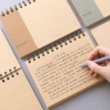 Leather Upturned Coil Book Thickening Finishing Student Classroom Notebook Shorthand Notepad Diary Office