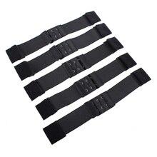 Leeven черный нейлон Регулируемый поясной ремень вьетнамки с эластичным ремешком для парики 2,8/3/3,5 см делает шапки парика волосы чистая кружевная сеточка, прошитая резиновая парик