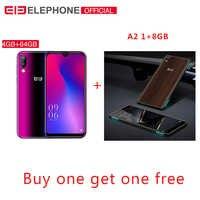 Elefono A6 Mini 5.71 ''waterdrop Screen Del Telefono Cellulare Android 9.0 MT6761 Quad Core HD + 4GB 32GB /64GB 16MP 4G LTE Smartphone