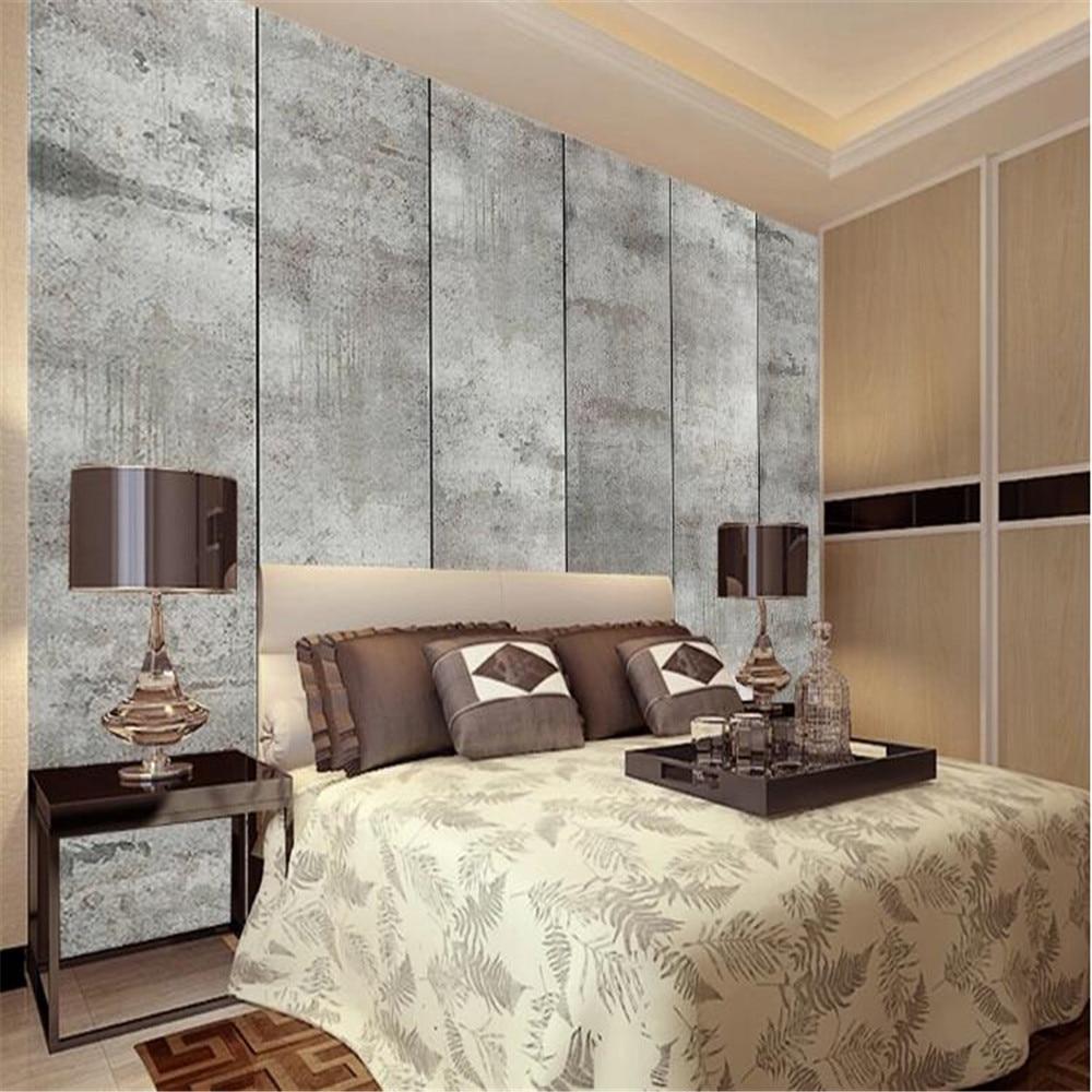 Milofi custom retro industrial style cement living room bedroom mural wall paper TV background wall