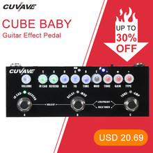 CUVAVE CUBE BABY Portable Multifunctional Electric Guitar Effect Pedal Combined Guitar Pedal Recording Audio Interface Function