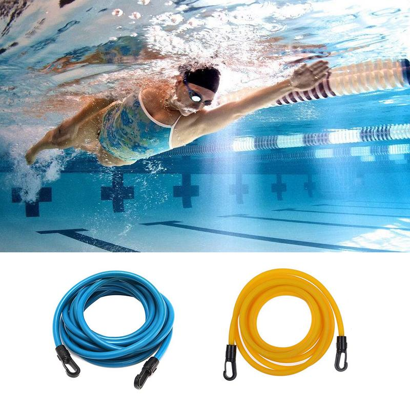 Adjustable 3m 4m Adult Kids Swimming Bungee Exerciser Leash Training Hip Swim Belt Cord Safety Swimming Pool Accessories