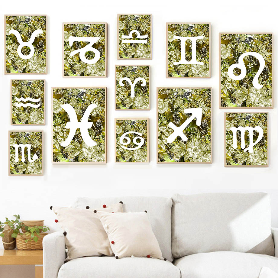 Letra para pared verde