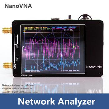 NanoVNA 50 KHz-900 MHz wektor analizator sieci cyfrowy ekran dotykowy krótkofalówka MF HF VHF UHF analizator antenowy fala stojąca tanie i dobre opinie Elonwood Brak Przenośne