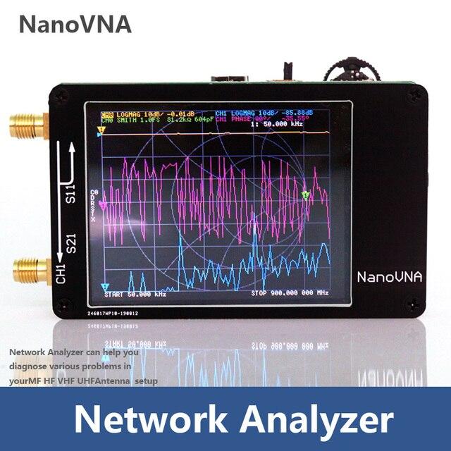 NanoVNA 50KHz 900MHz וקטור רשת Analyzer דיגיטלי נגיעה מסך גלים קצרים MF HF VHF UHF אנטנת מנתח עומד גל