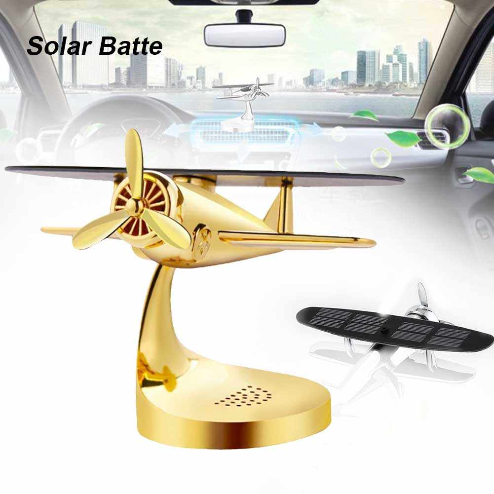Airplane SHAPE Solar Powered Motion-Rotating Heat-Resistant Car Aromatherapy