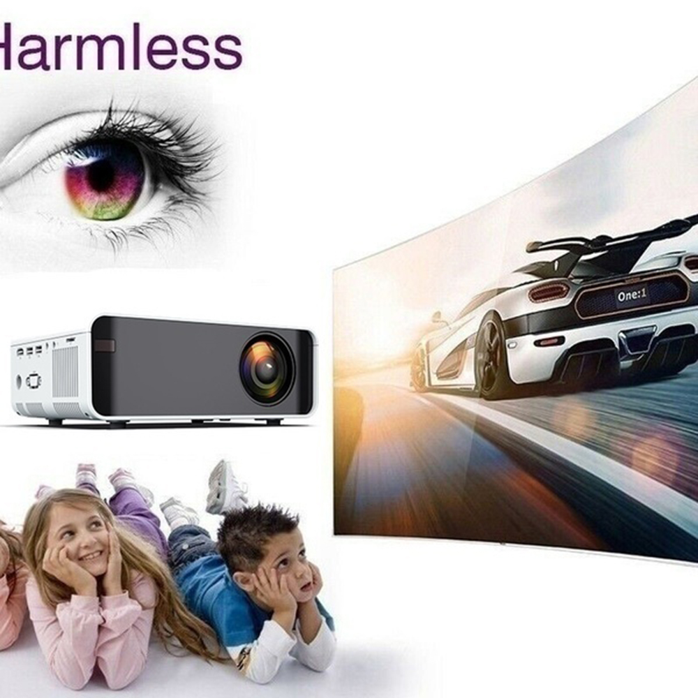 W80 HD Home projecteur HDMI/AV/USB/TF/VGA Support Dolby Sound 1 + 8G Android 6.0 projecteur pour Home Cinema