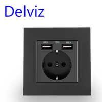 Delviz-enchufe USB estándar de la UE, toma de corriente de pared de 5V, 86mm, 16A pop, para mejorar el hogar