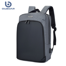 OUBDAR 2020 New Men High Quality Waterproof Backpack Male Casual Oxford USB Charging Anti Theft Travel Back Pack Unisex Bags