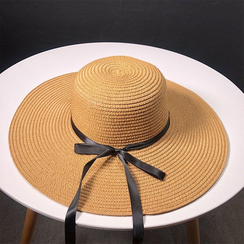 Новинка, соломенные шляпы, дамские, для отдыха, отправляются в путешествие, соломенная шляпа с бантом на открытом воздухе, солнцезащитный крем для отдыха|Женские пляжные шляпы|   | АлиЭкспресс