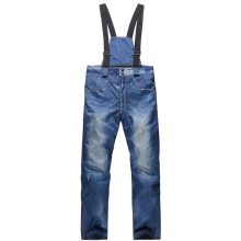 Ski-Pants Snowboard Winter Waterproof Men with Shoulder-Straps Outdoors Jeans Full-Protection