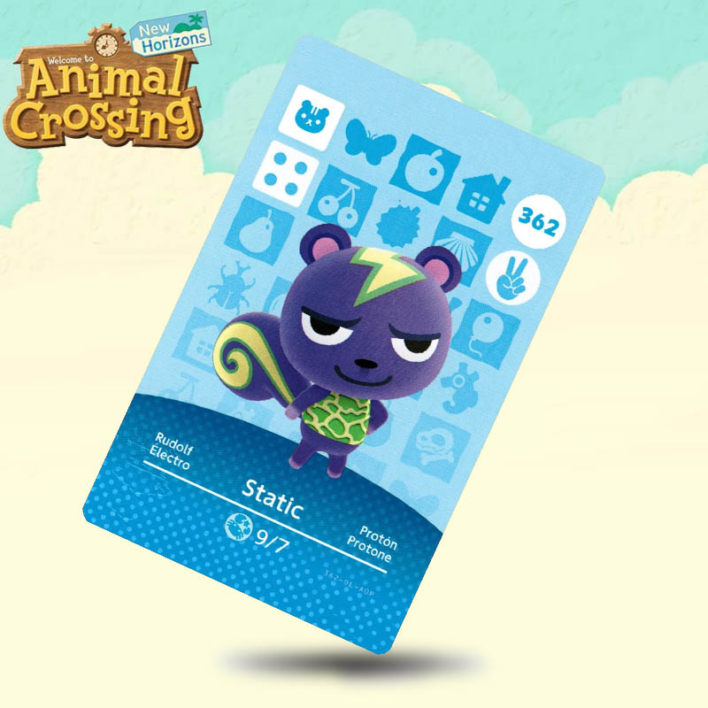 362 Static Animal Crossing Card Amiibo Cards Work For Switch NS 3DS Games
