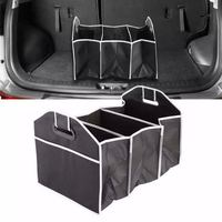 Auto Stamm Veranstalter Klapp Robust Robuste Auto Lagerung Box auto Boot Organisieren Einkaufen Ordentlich Faltbare Platzsparende Lagerung taschen