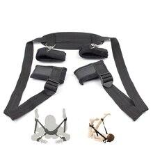 Adult Game BDSM Restrains Bondage Sex Kit Handcuffs and Ankle Cuffs Bondage Stra