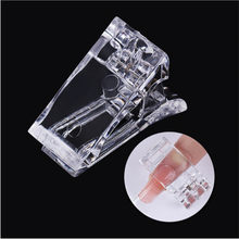 1 Pcs Clear Acryl Poly Gel Quick Building Nail Tips Clips Professionele Vrouwelijke Vinger Nail Extension Diy Manicure Nail Art kit(China)