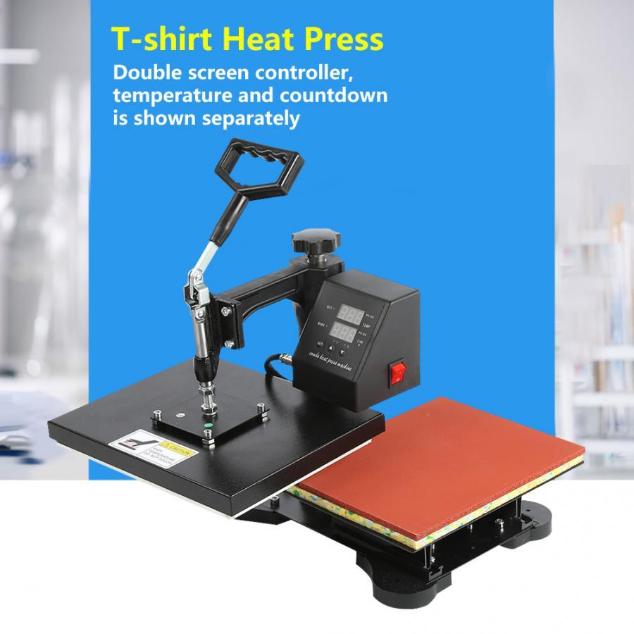 Hydraulic T-shirt Heat Press Machine Dual-display Digital Manual T-shirt Printing Machine EU Plug 230V
