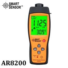 Analizzatore di Gas di CO2 professionale Meter Monitor Rilevatore di Gas di Biossido di Carbonio Rilevatore di Monitorare la Qualità Dellaria Interna CO2 Tester AR8200