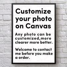 Nach Ihr Foto auf Leinwand Personalisierte Leinwand Malerei für Sie Auch 1pc Ist Auch Können Jede Größe Angepasst Werden ist Ok