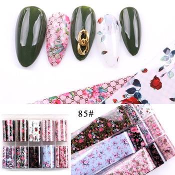 1set/lot 2.5*100cm Butterfly Spring Mix Flower Starry Sky Nail Foils set Transfer Sticker DIY Manicure Decoration Decals - 85