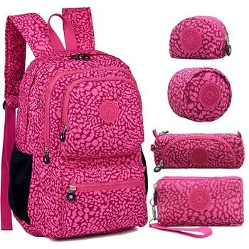 ACEPERCH Women Original Backpacks Mochila Mujer Escolar Feminina School Bag For Teenager Girl Nylon Waterproof Backpack Female