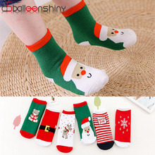 Balleenshiny Christmas Unisex Print Adult Kids Socks Cotton Funny Socks Christma