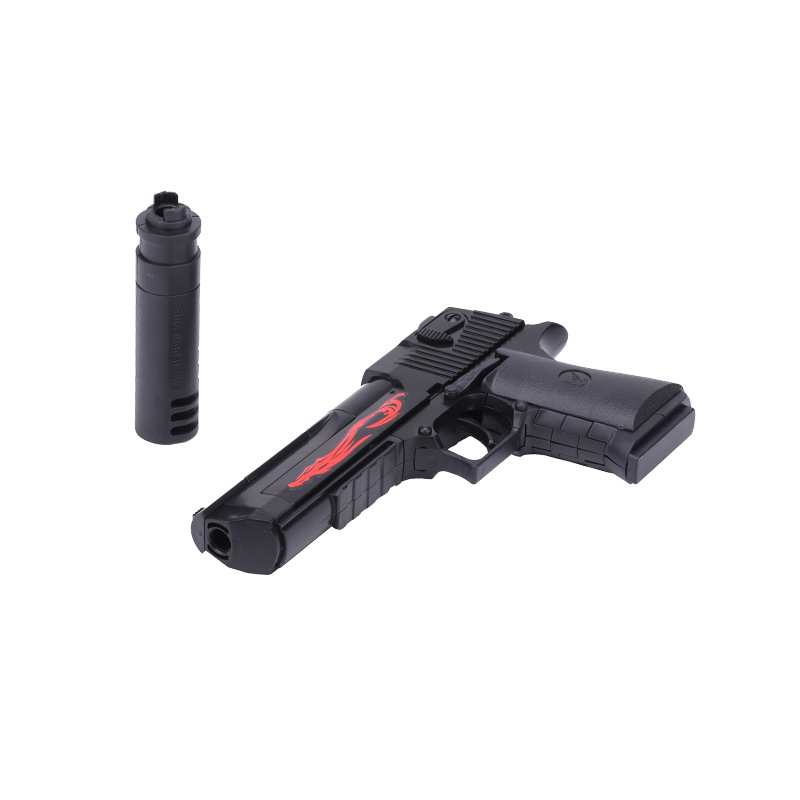 Modern Military Weapon Toys Gun Desert Eagle Pistol With Muffler BB Ball Bullet Assembly Model Collection For Boys Gifts