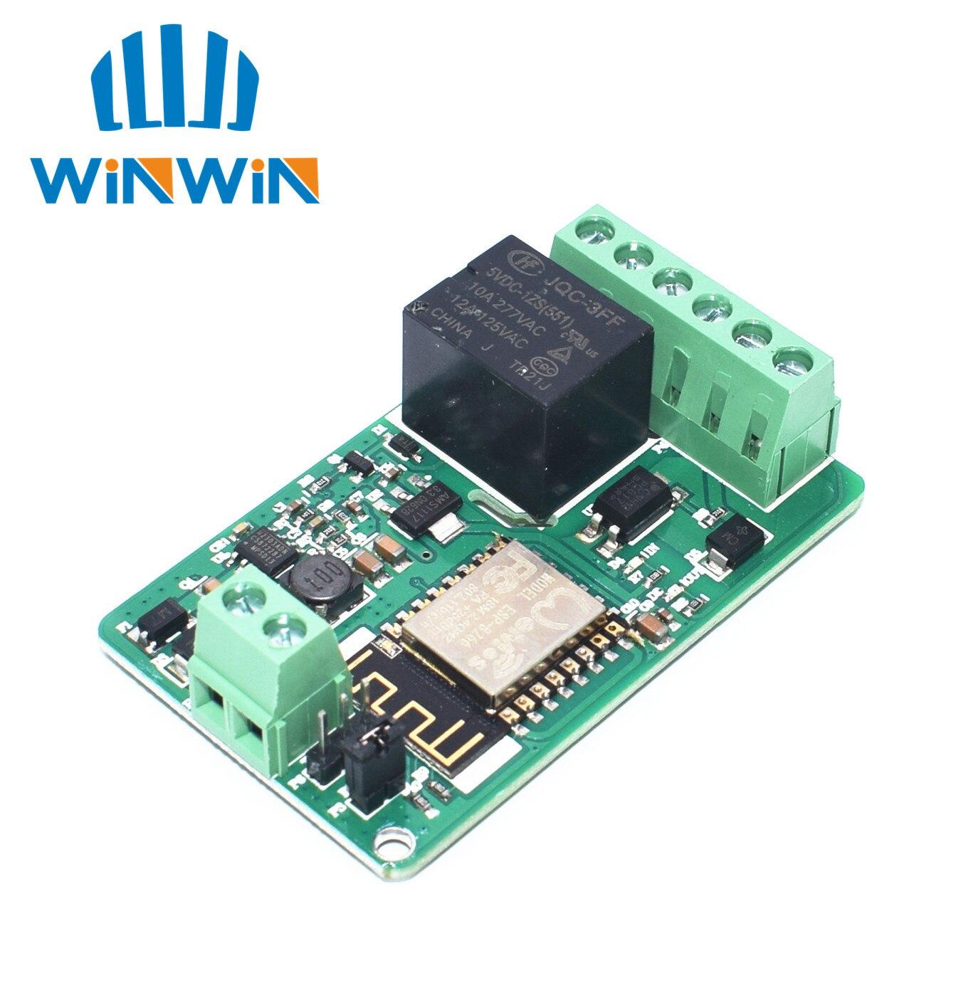 A21 Новое поступление 1 шт. зеленый ESP8266 10A 220 В сетевое реле WIFI модуль вход DC 7 В ~ 30 в модули