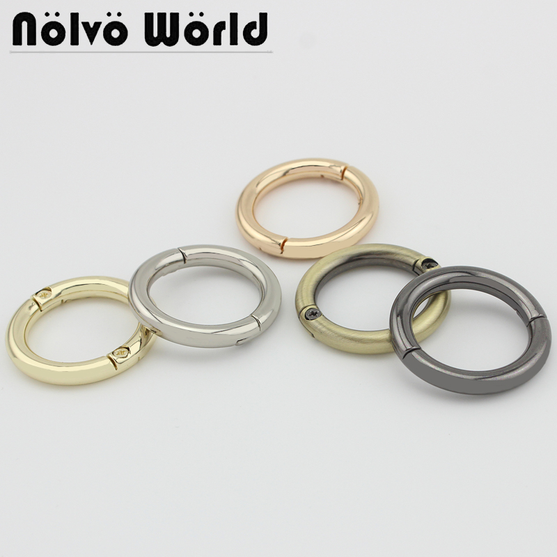Wholesale 500pcs, 5 Colors Accept Mix Color,inner Width 25mm 1 Inch, Metal Spiral Circle Handbag Detachable Ring Diy Accessories