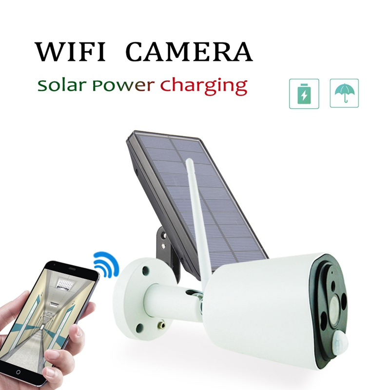 1080P Solar Power Camera 2MP Wireless Wifi Security Surveillance Waterproof Outdoor Camera IR Night Vision Solar Power HD Cam