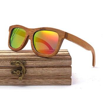 Lunettes de soleil en bois Monture Bambou Foncée + Coffret