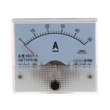 Промо-акция! 85C1 DC 0-50A прямоугольная аналоговая панельный амперметр