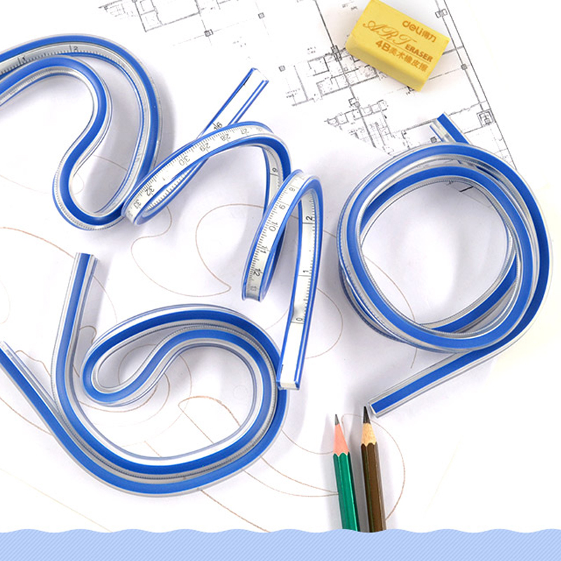 Flexible Curve Ruler for Engineering Drawing Design Graphics and Garment 40cm