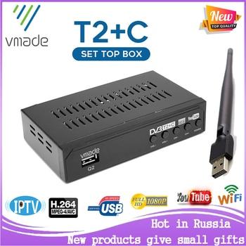 2020 newest HD digital Set-Top Box DVB T2+C two in 1 receiver DVB T2 TV tuner DVB C support Youtube WIFI IPTV DVB T2 receptor телевизор oled lg 78 oled77c9pla черный ultra hd 100hz dvb t2 dvb c dvb s2 usb wifi smart tv rus