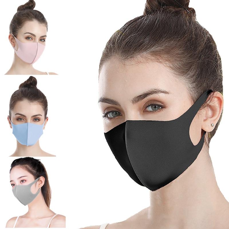 Fashion Face Mouth Mask Cotton Winter Warm Anti Haze Dust  Dustproof Washable Reusable Anime Cartoon Kpop Women Men Muffle  MasksWomens Masks