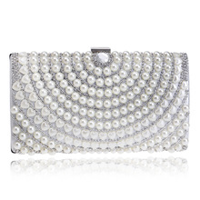 Luxury Beading Pearls Women Evening Clothes Bags Fashion Rhinestone Dinner Party Bag Ladies Chains Shoulder Bags Clutches Purse evening bags pearls blue beaded bride dinner bag ladies temperament chains shoulders lady female handbag great quality