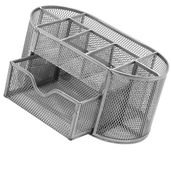 Metal Penalty Organizer Mesh Desk Organizer Table 9 Grids Design Storage Box Drawer Pencil Pen Holder For Neatening Tools 1