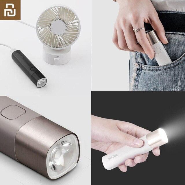 Youpin SOLOVE Flashlight X3 USB Type C Rechargeable Electric Torch Brightness EDC Flashlight 3000mAh Power Bank Mini LED Torch