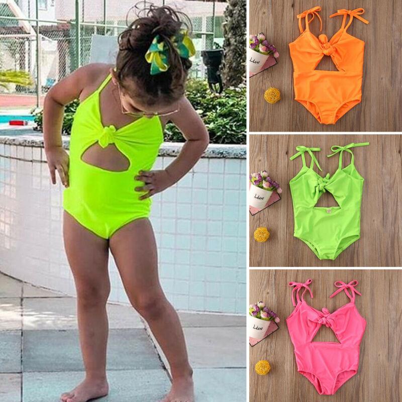 Toddler Kids Baby Girls 12M-5T Bowknot Swimwear Swimsuit Bathing Suit Bikini Beachwear