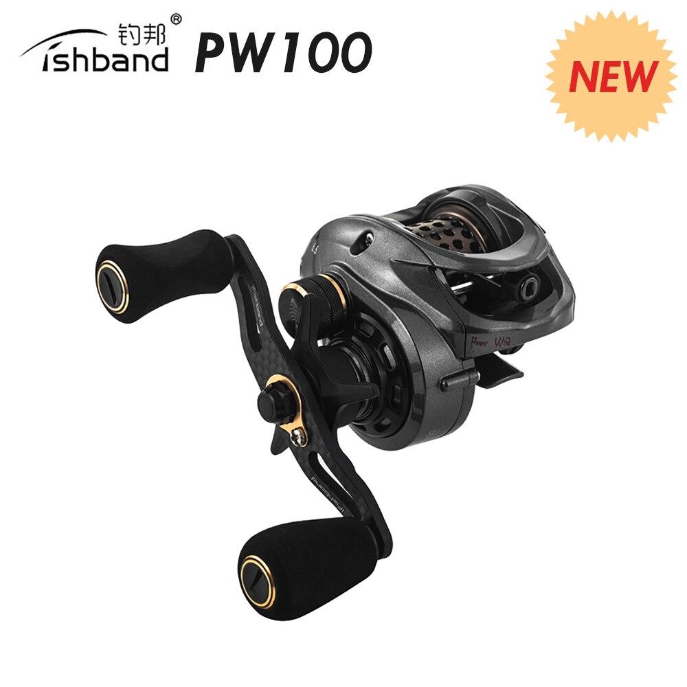 Fishband PW100 (GH100 Pro) carretel de arremesso Carpa Isca Elenco Carretel De Pesca De Fundição Para A Truta Jigging Pesca Da Carpa Combater a Pesca do Robalo