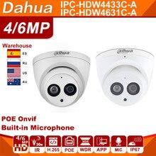 Dahua IPC-HDW4433C-A IPC-HDW4631C-A 4MP 6MP Netwerk Cam Ip Camera Webcam Powerby Poe Cctv Security Ingebouwde Microfoon Ir 30M 50M H.265